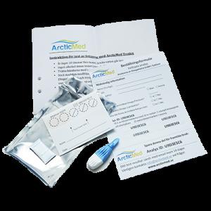 Testkitet för fettsyra profil test innehåller dessa delar